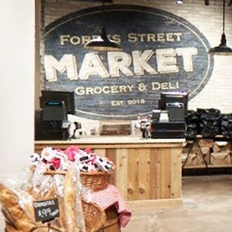 An inside section of the Forbes Street Market Grocery and Deli