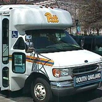 A Pitt student shuttle